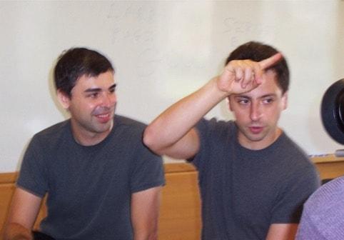 Larry Page y Sergey Brin de Google