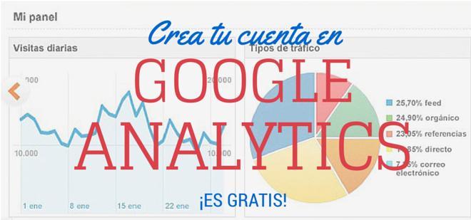Crea una cuenta en Google Analytics gratis