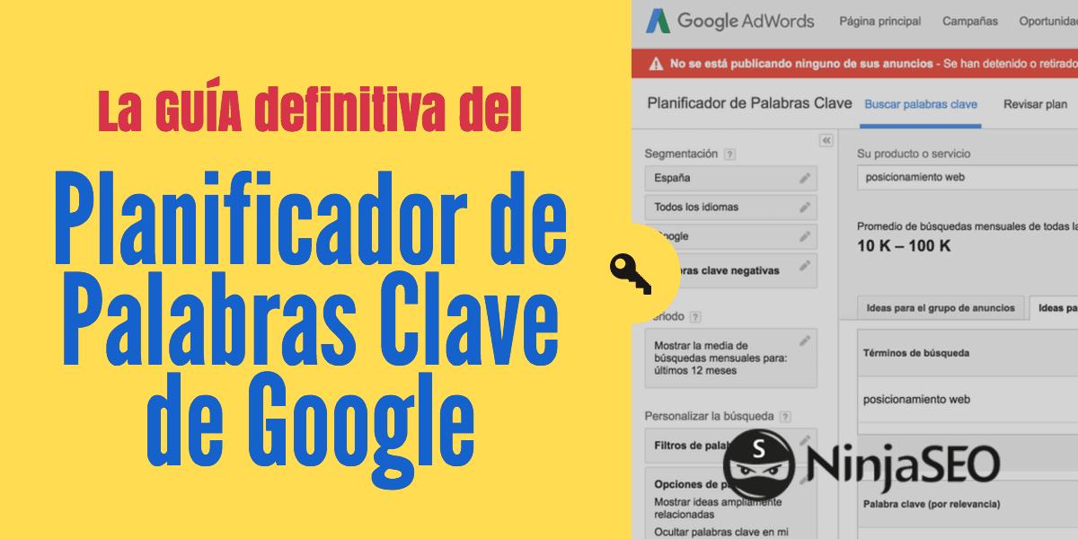 Planificador De Palabras Clave De Google Keyword Planner