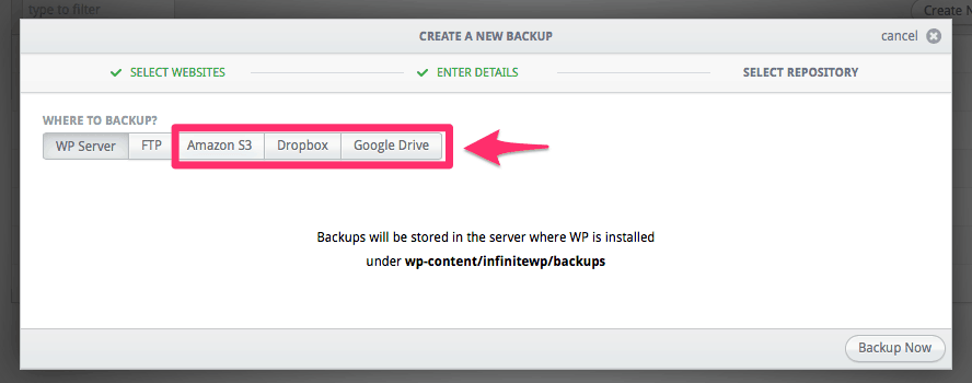 Cloud Backup Addon InfiniteWP