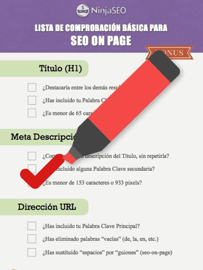 Lista comprobación para hacer un buen SEO On Page