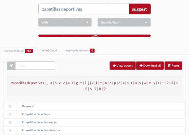 Ubbersuggest herramienta SEO para la investigación de Keywords