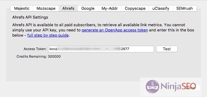 API de Ahrefs para URL Profiler