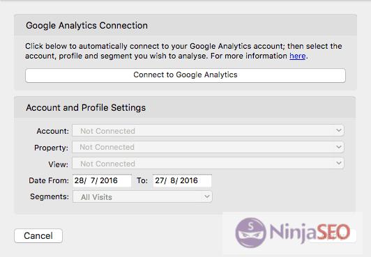 Conectar Search Console y Google Analytics en URL Profiler