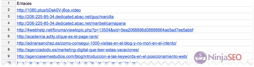 Enlaces a tu sitio Search Console