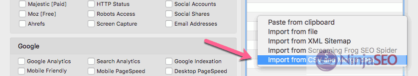 Unir datos de diferentes herramientas con URL Profiler