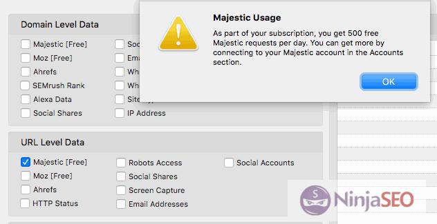 Usa los datos de Majestic con URL Profiler
