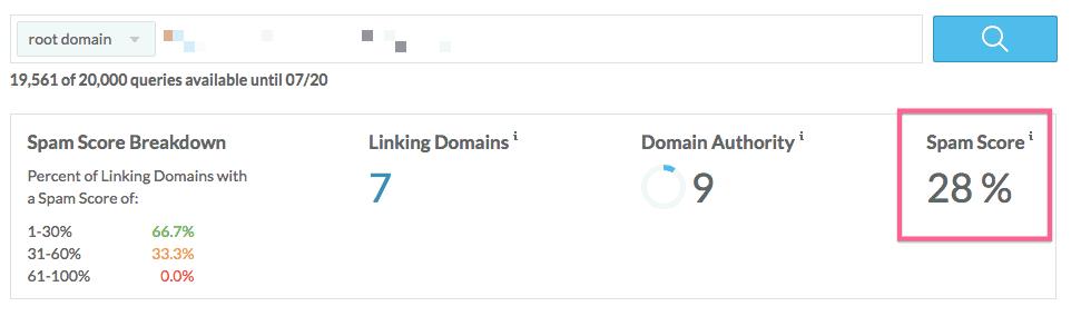 Ejemplo de sitio web con links que pueden penalizarle