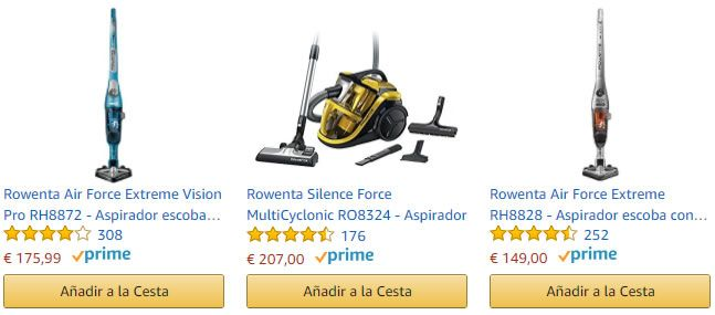 Features y snippets en Amazon Search