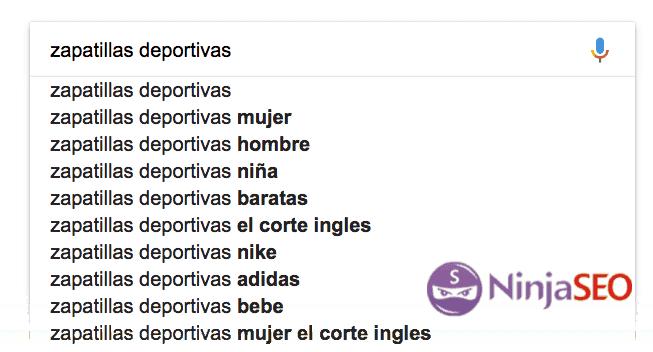Autocompletado de Google