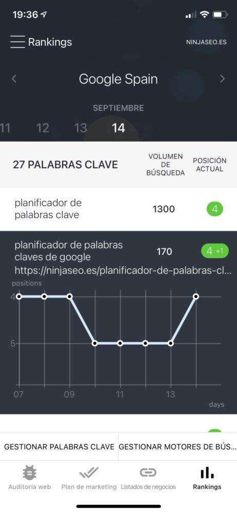 se ranking app móvil rankings org