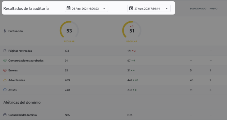 se ranking auditoría web comparativa ninjaseo opt