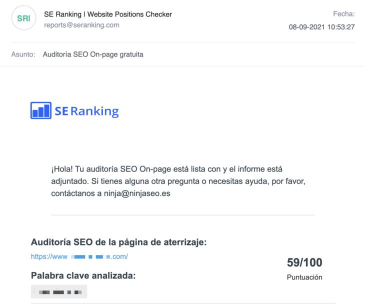 se ranking generador de leads email ninjaseo