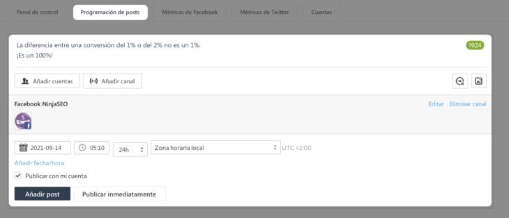 se ranking social media programación de posts opt